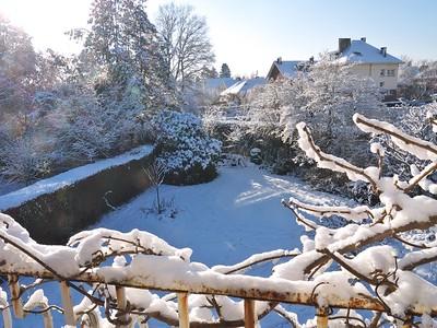 Notre jardin sous la neige, 28 décembre 2014