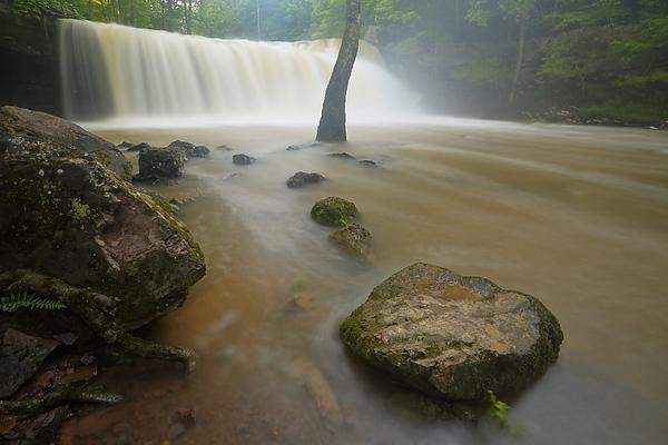 Brush Creek Falls, WV with spring runoff.