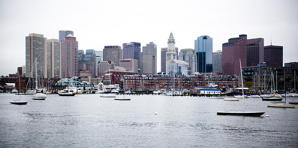 Views of Boston from the Commuter Ferry Boat