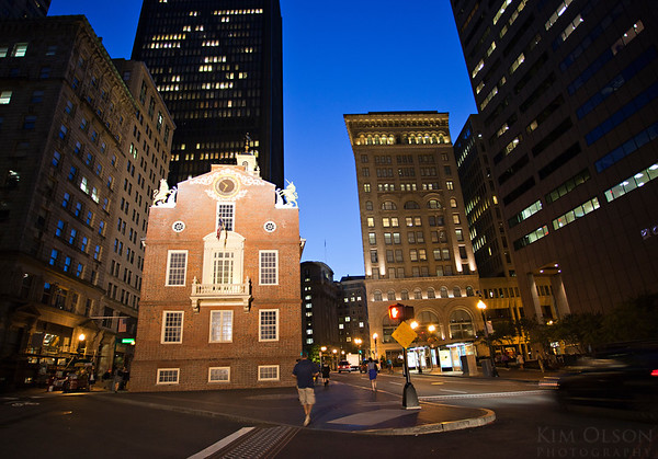 Old State House in Boston, where the Declaration of Independence was read & the site of the Boston Massacre