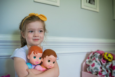 2016 June Madeline with Baby Dolls 3 Years Old -3-3