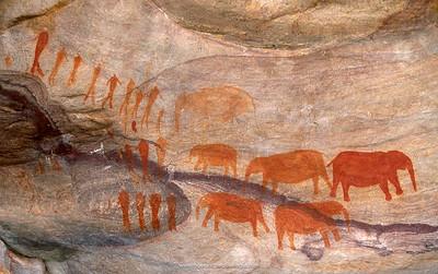 San (Bushman) rock art. Cederberg Wilderness Area. Western Cape. South Africa.