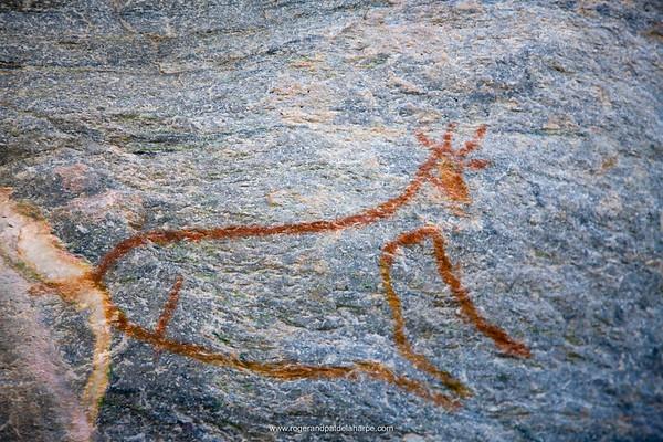 Bushman (San) rockart. Tsodilo Hills. Shakawe. Botswana