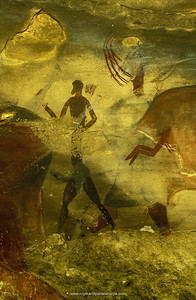San (Bushman) Rock Art. Christmas Cave. Kamberg. Ukahlamba Drakensberg Park. KwaZulu-Natal. South Africa