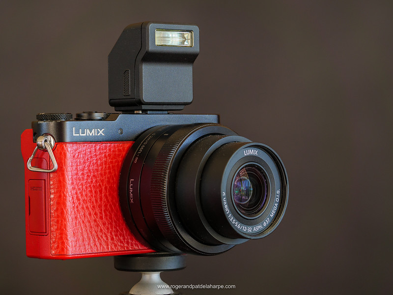The Panasonic Lumix GM5 with the Panasonic 12 - 32mm lens and tiny removable flash.