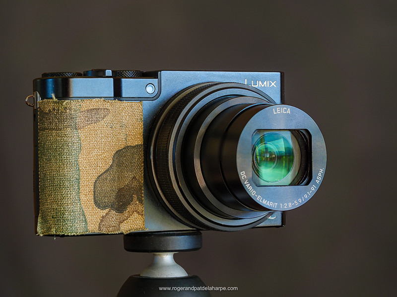 The Panasonic Lumix TZ110 with a bit of anti-slip camo tape to improve the grip.