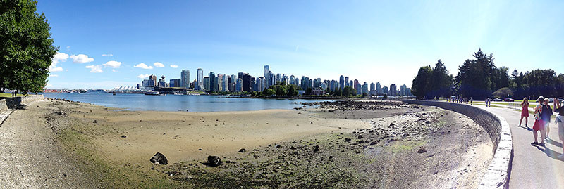 Panorama of Vancouver, B.C. taken from Stanley Park