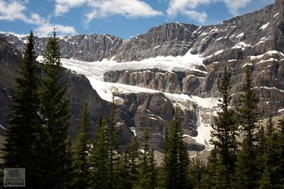 Mountains near Bow Lake