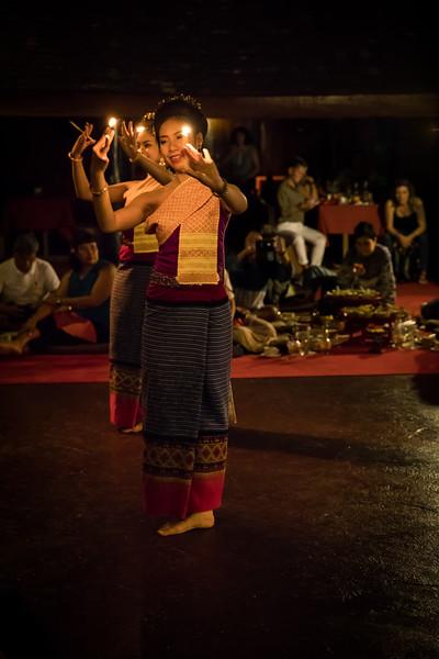 a traditional Lanna-Thai dance