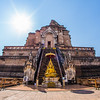 the ruins of Wat Chedi Luang, built in 1441