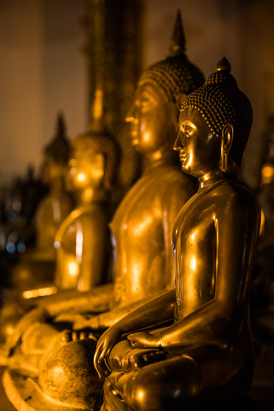 statues of Buddha in a Chiang Mai monestary