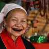 a very friendly woman of the Akha hill tribe