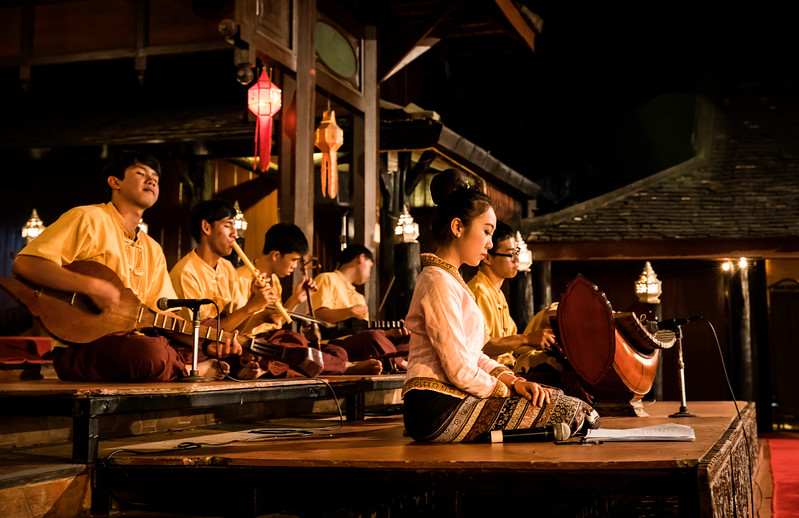 musicians performing traditional Lanna-Thai songs