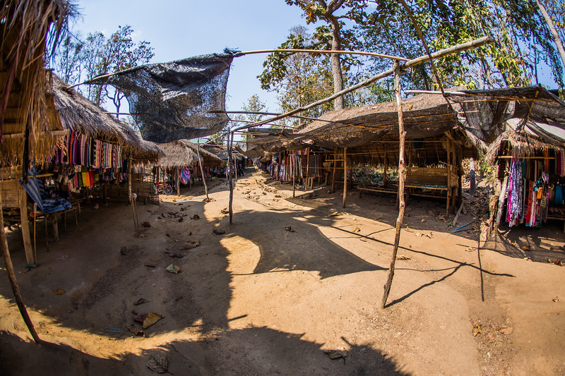 the path through the hill tribe area was lined on both sides with common Thai souvenirs