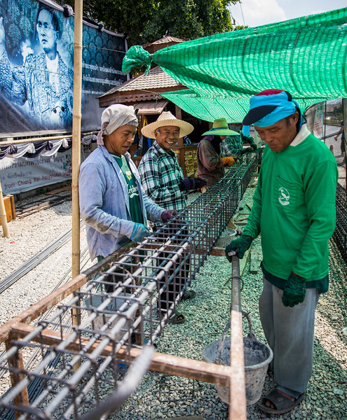 friendly constructions workers in Chiang Rai