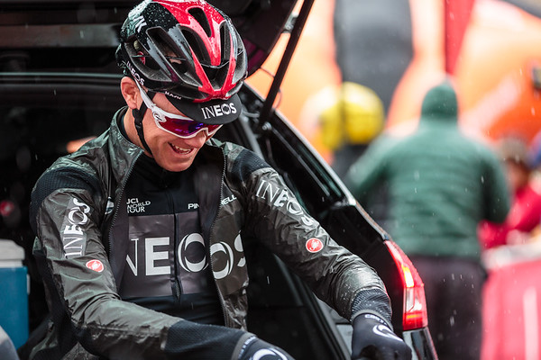 Chris Froome in high spirits