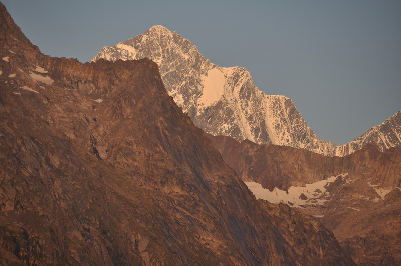 early morning light on Finsteraarhorn, 4274 msl