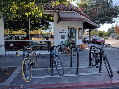 Ample bike parking right outside.