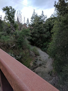 The San Francisquito Creek was still dry, despite recent rains.