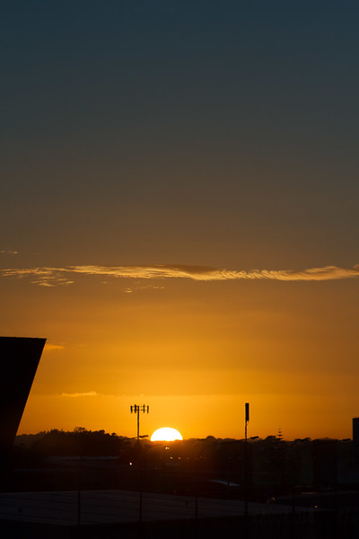 Sunrise from Auckland, New Zealand airport