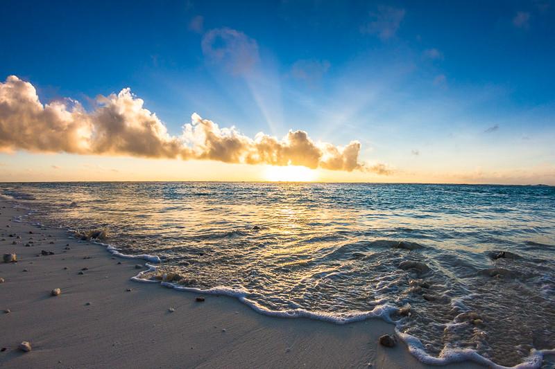 Sunset from Rarontonga, Cook Islands. Amazing!!!
