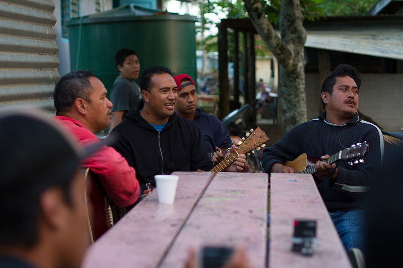 Live entertainment provided by the locals of Mangaia.