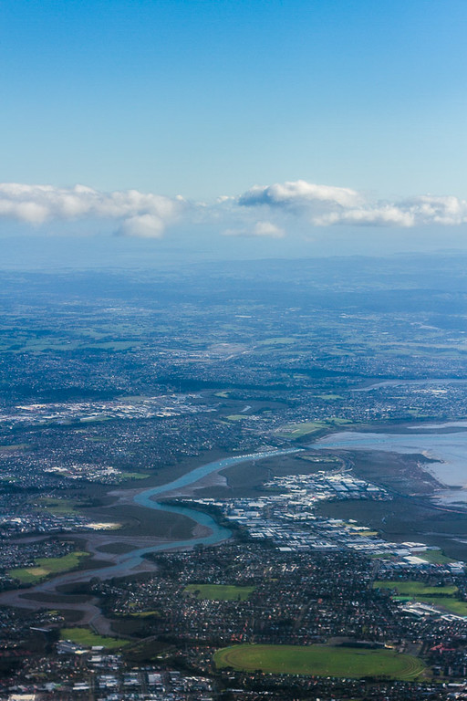 The view above Auckland.