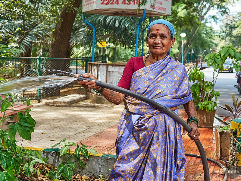 Woman Watering - Bangalore, India