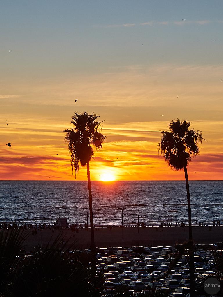 Sunset and Texture - Santa Monica, California