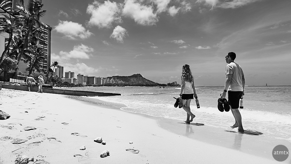Strolling, Waikiki Beach - Honolulu, Hawaii