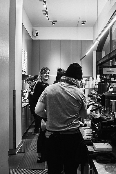 Friendly Barista, Ferry Building - San Francisco, California