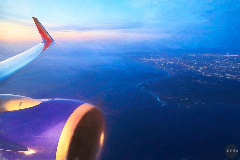 Over LA - Southwest Airlines