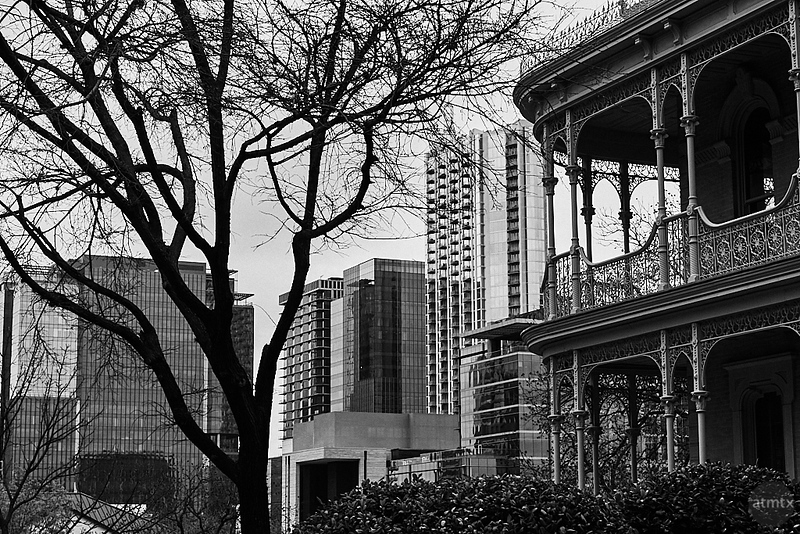 Victorian and Skyscrapers - Austin, Texas