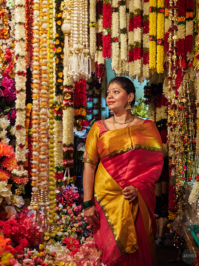 Sahana at the Flower Shop - Bangalore, India