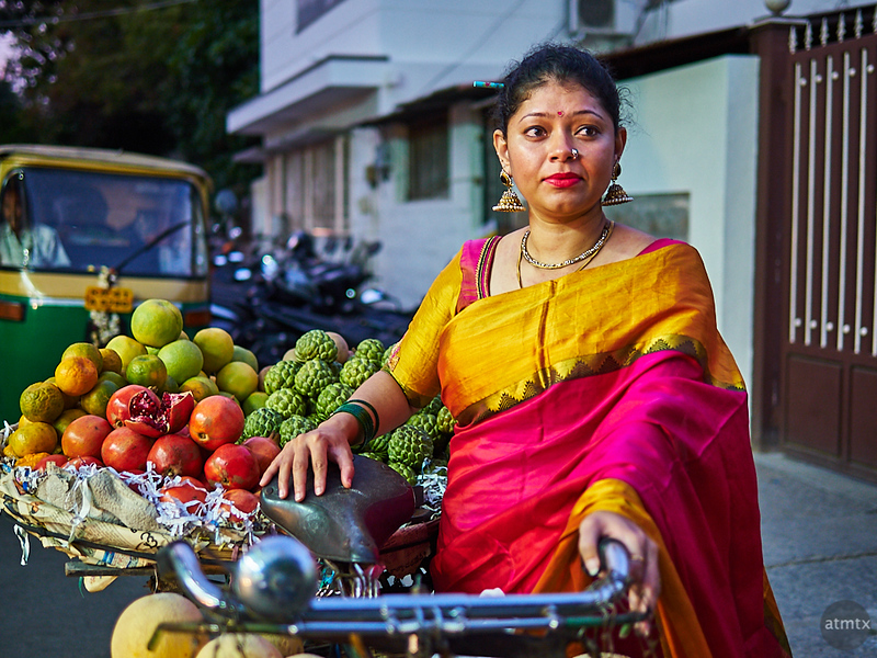 Sahana with Bicycle - Bangalore, India