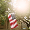 Sunshine and US Flag - Austin, Texas