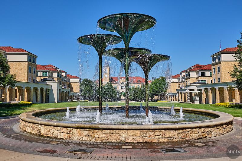 Frog Fountain, TCU - Fort Worth, Texas