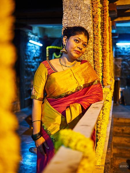 Sahana at the Temple - Bangalore, India