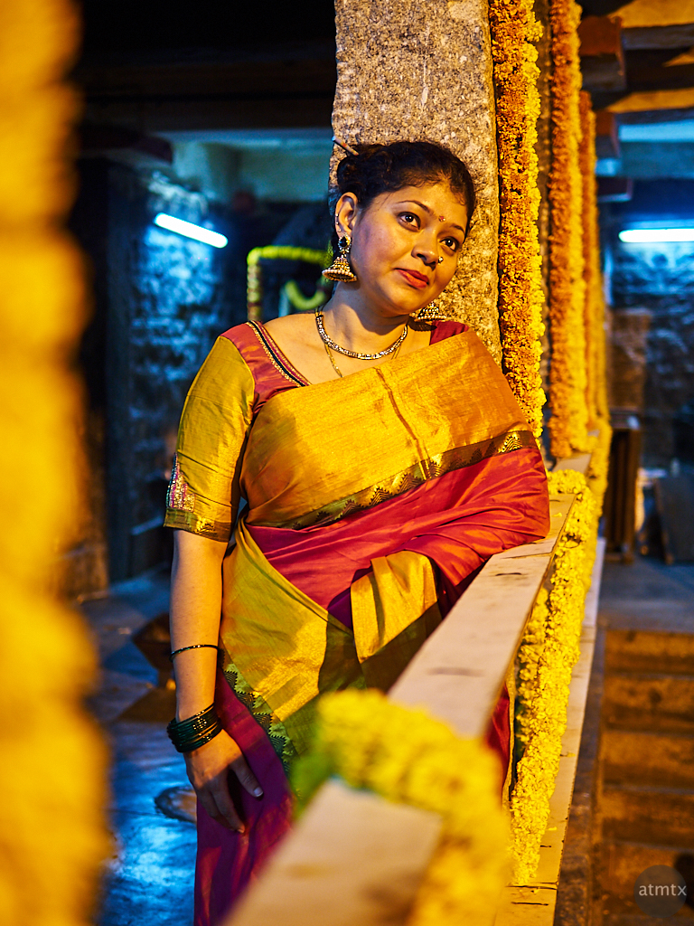 Sahana at the Temple - Bangalore, India