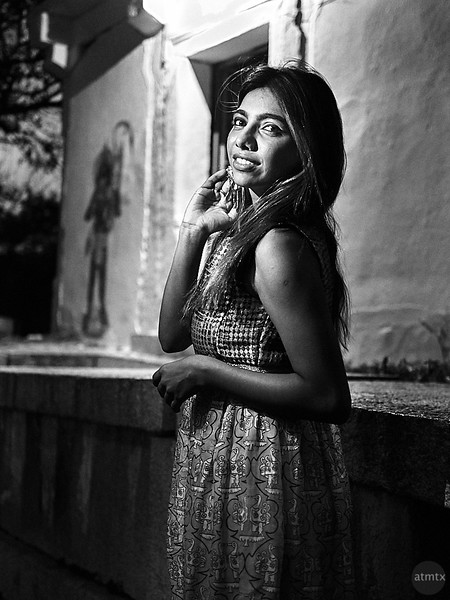 Sarika, Black and White Portrait - Bangalore, India