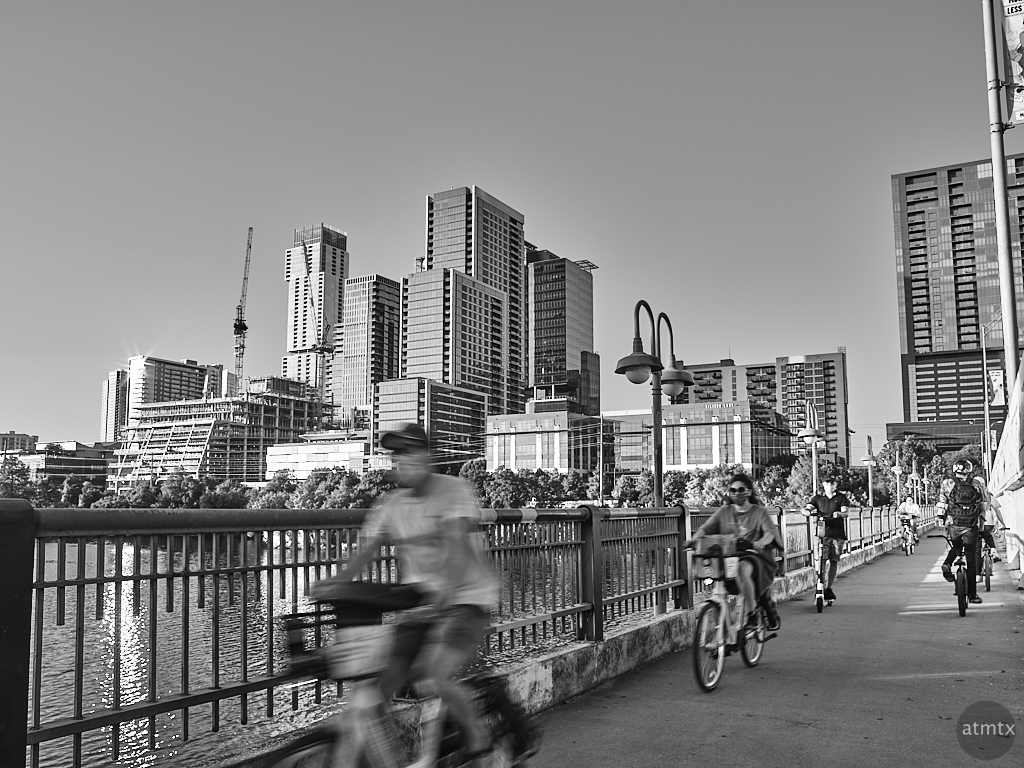 Pedestrians, First Street Bridge - Austin, Texas