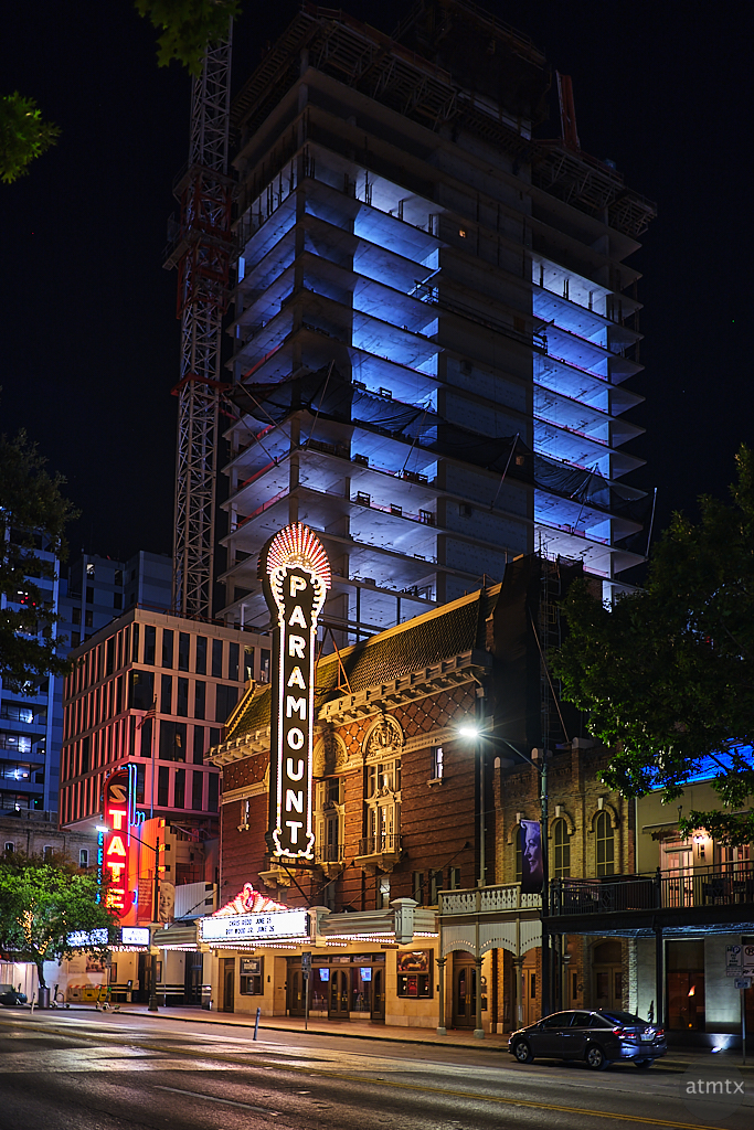 The Paramount and New Construction - Austin, Texas