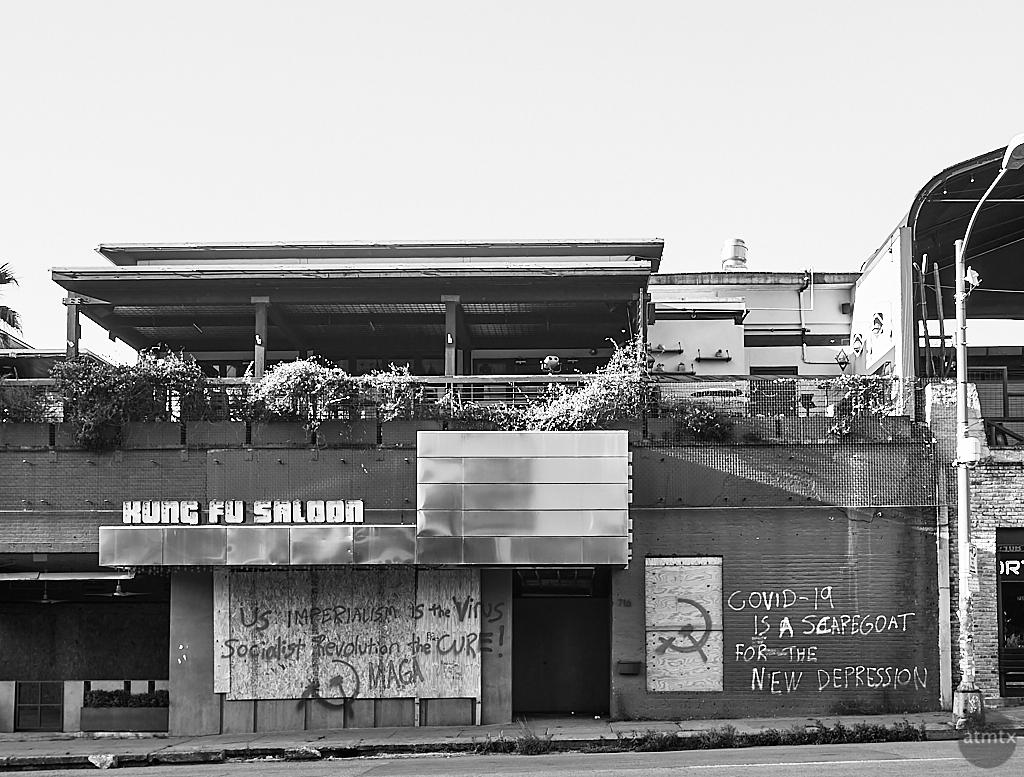 Kung Fu Saloon Graffiti - Austin, Texas