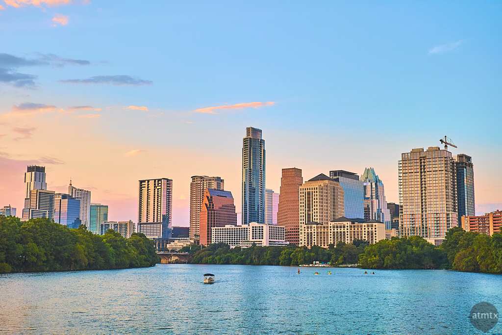 Skyline from Lady Bird Lake - Austin, Texas