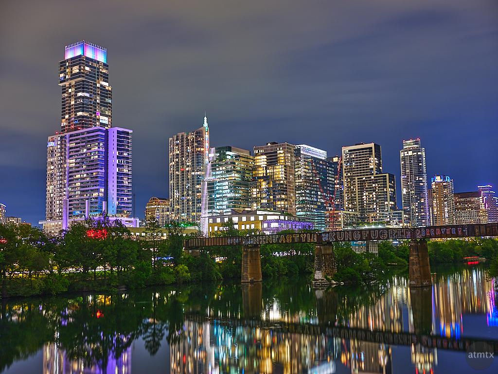 Skyline from the Pedestrian Bridge - Austin, Texas