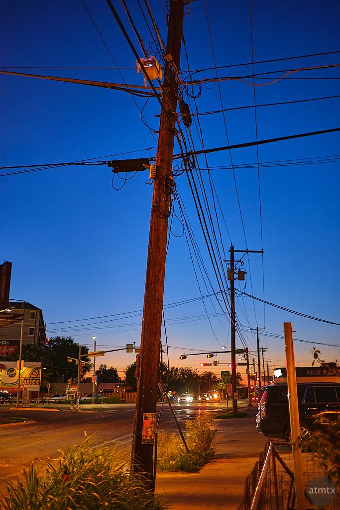 Blue Hour Telephone Poles - Austin, Texas
