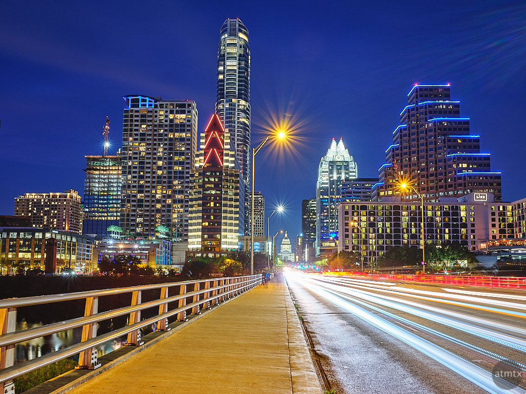 Congress Avenue Blue Hour - Austin, Texas