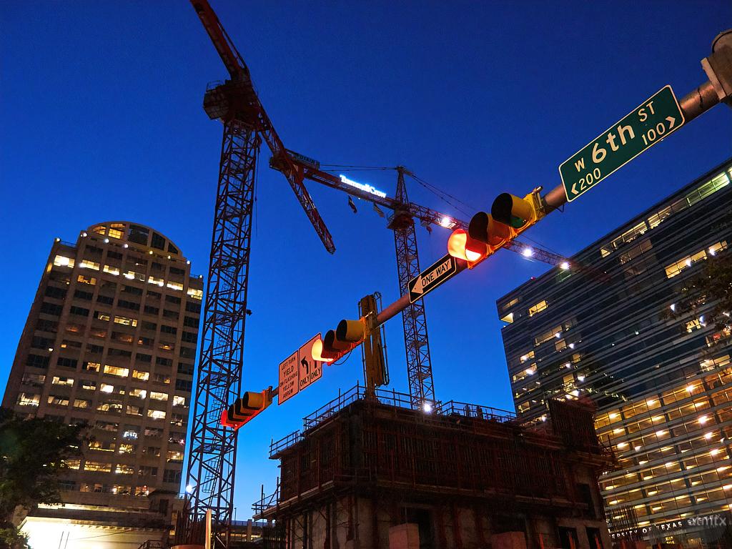 Construction Blue Hour - Austin, Texas
