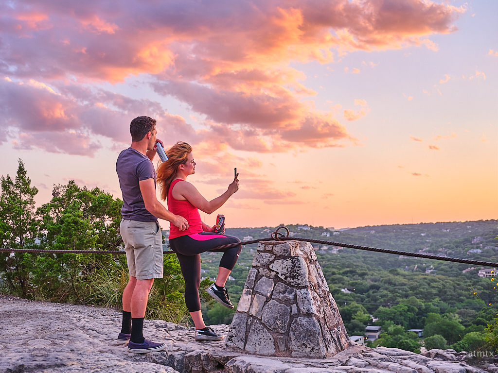 Admiring the Mount Bonnell Sunset - Austin, Texas