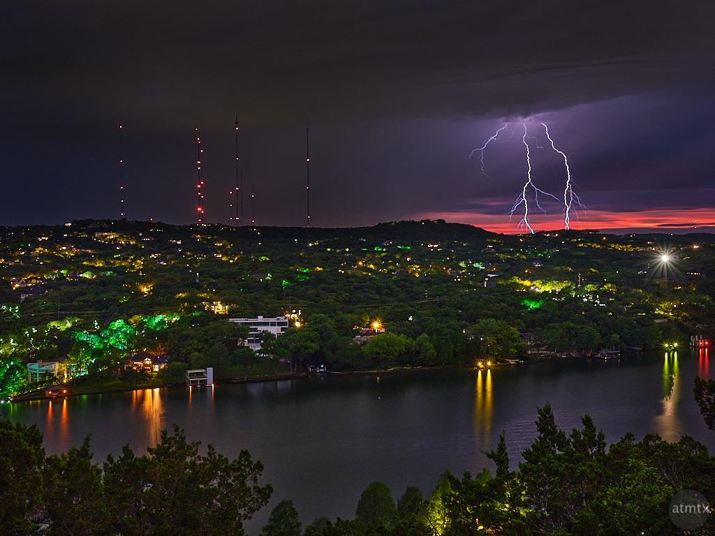 Lighting over West Lake Hills - Austin, Texas